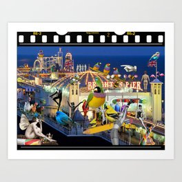 Welcome to Brighton Art Print