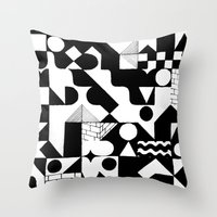 grid Throw Pillows featuring GRID by Matt Scobey