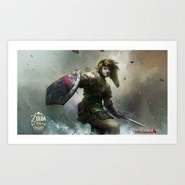 legend of zelda 25th anniversary  Art Print