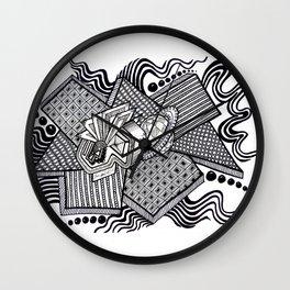 Dual worlds Wall Clock