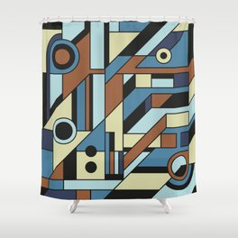 De Stijl Abstract Geometric Artwork 3 Shower Curtain
