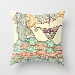 Hundertwasser's last voyage Throw Pillow