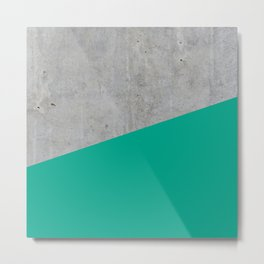 Concrete with Arcadia Color Metal Print
