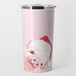 Sneaky Santa Baby Pig Travel Mug
