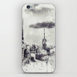 Sao Paulo - WaterColor 003E iPhone Skin