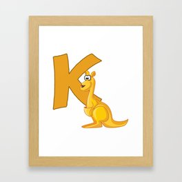 K Is For Kangaroo Framed Art Print