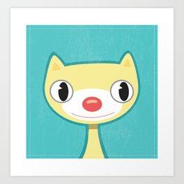 Yellow Kitty  Art Print