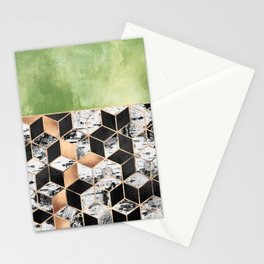 Birch Tree Cubes Stationery Cards
