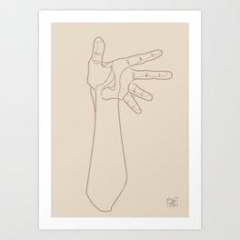 Hand Study n1 Art Print