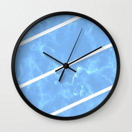 Blue Granite Wall Clock