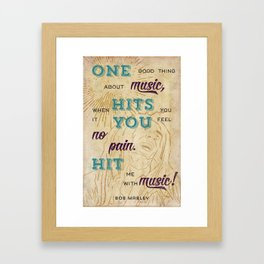 Marley Quote Poster Framed Art Print