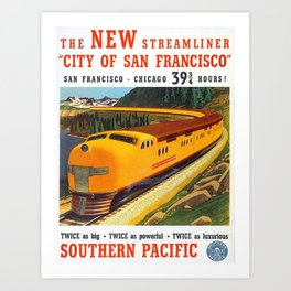 Vintage poster - City of San Francisco Art Print