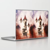 castle in the sky Laptop & iPad Skins featuring Castle in the Sky by Heidy Curbelo