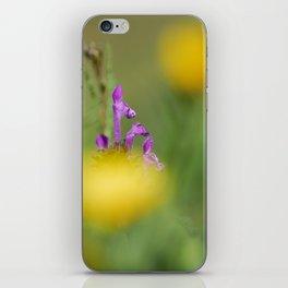 Purple, yellow and green bokeh iPhone Skin
