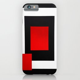 Geometric Abstraction - Red iPhone Case