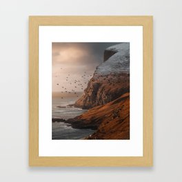 Golden hour in the Faroe Islands Framed Art Print