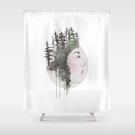 """""""Sometimes, even the snow is sad."""" Shower Curtain"""
