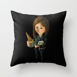 Hello Melted Coffee Ice Cream Throw Pillow