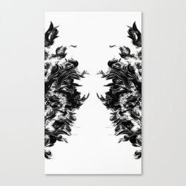 Soft Lines(B&W) Canvas Print