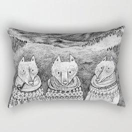 Icelandic foxes Rectangular Pillow