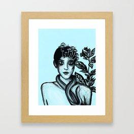 Blue Belladonna | Blue | Belladonna | Portrait | Art | Portrait Framed Art Print