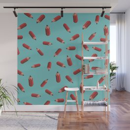 flying pencils Wall Mural