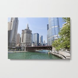 Chicago River Cityscape Metal Print