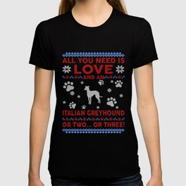 Italian Greyhound Ugly Christmas Sweater T-shirt