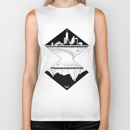 City by the Mountains Biker Tank