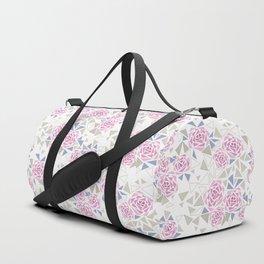 Modern . Geometric pattern . Roses . 1 Duffle Bag