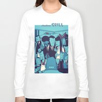 pulp fiction Long Sleeve T-shirts featuring PULP FICTION variant by Ale Giorgini