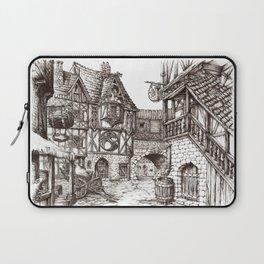 Medieval town ink Laptop Sleeve
