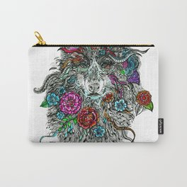 Floral Wolf. Carry-All Pouch