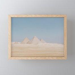 The Pyramids Of Giza Framed Mini Art Print