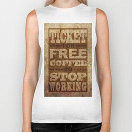 Free Coffee Ticket Biker Tank