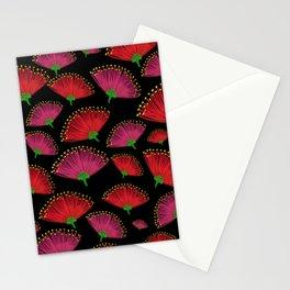 Pohututkawa on a Black Background Stationery Cards