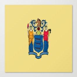 Flag new jersey, america,usa,northeastern,Jerseyan, Jerseyite,Garden State,newark,Paterson,Elizabeth Canvas Print