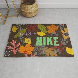 Take a Hike Artwork Fabric Design Rug