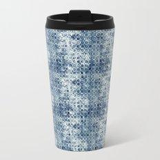 Grungy Teal Circles Travel Mug