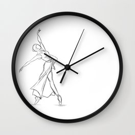 Strong Female Dancer #3 Wall Clock