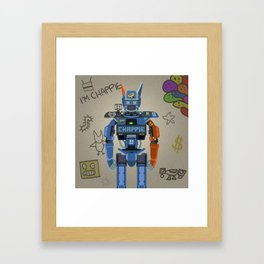 Chappie vector fanart Framed Art Print