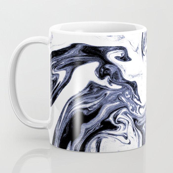 Marble Suminagashi watercolor pattern art pisces water wave ocean minimal design Coffee Mug