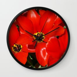 Seductive Red Wall Clock