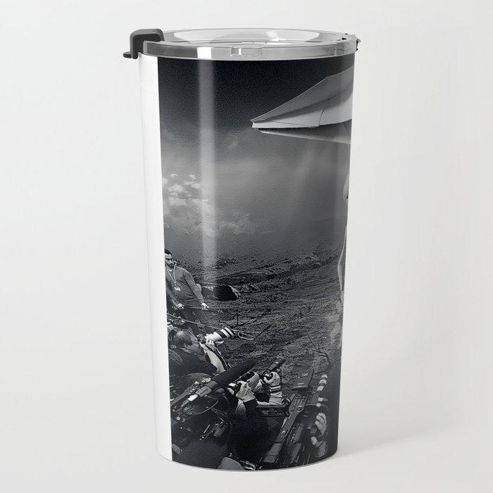 The Arrival Black and White Travel Mug