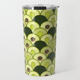 avocados in art deco Travel Mug