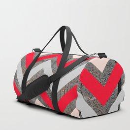 Wood & Chevrons Duffle Bag