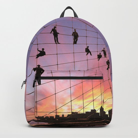 Brooklyn Bridge Painters Quitting Time Backpack