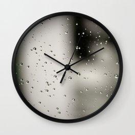 Rain bulles Wall Clock