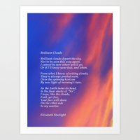 Brilliant Clouds Poem Art Print