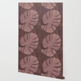 Earthy Monstera Leaf Wallpaper